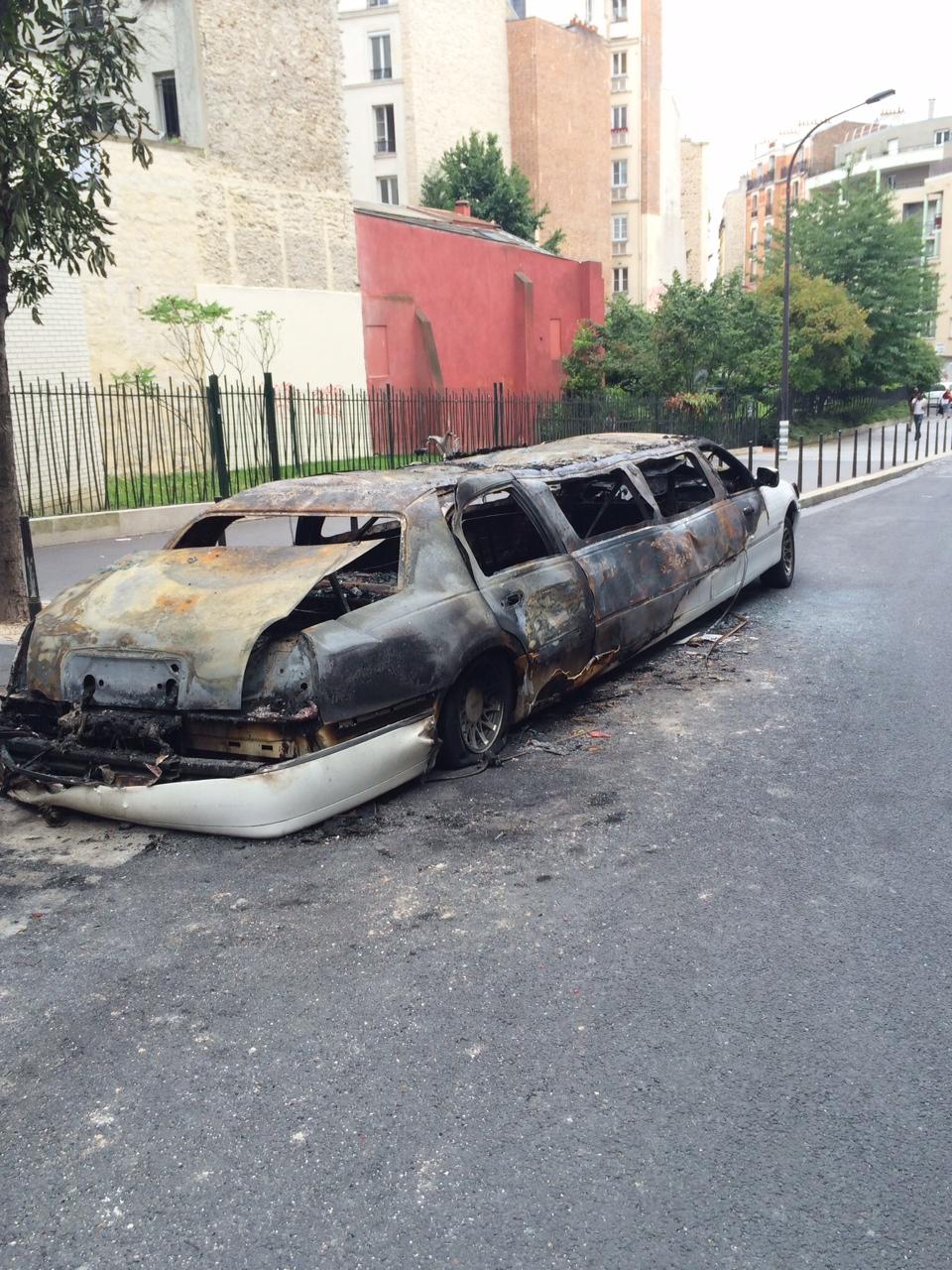 Burn limo