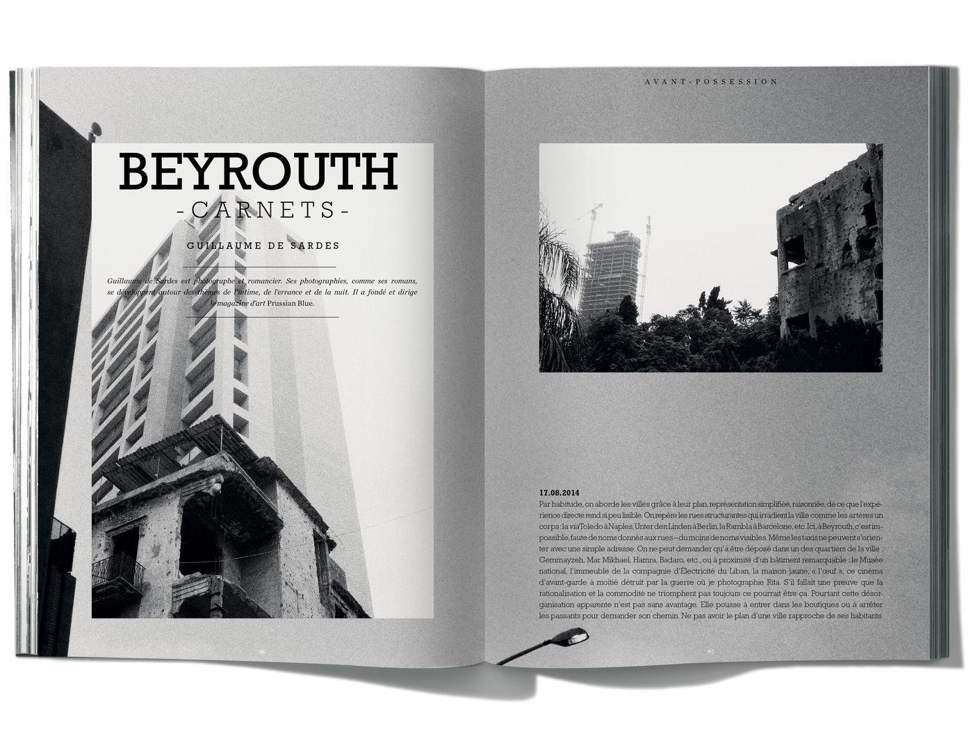 Texte et photographies de Guillaume de Sardes, Beyrouth - Carnets -