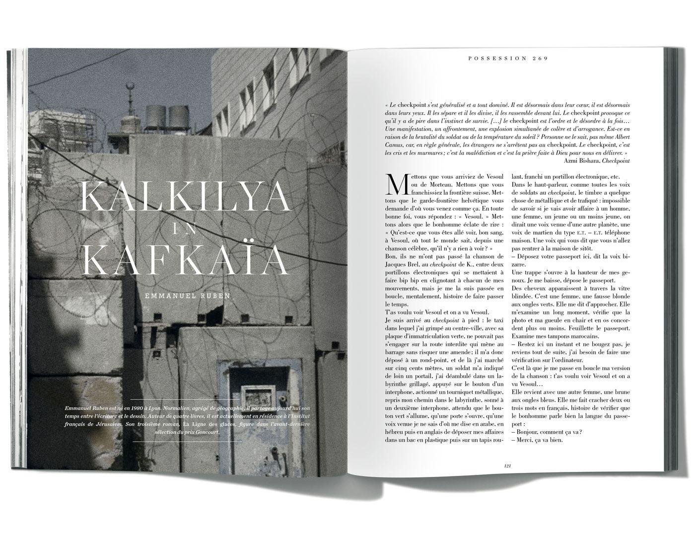 Texte de Emmanuel Ruben, Kalkilya in Kafkaïa