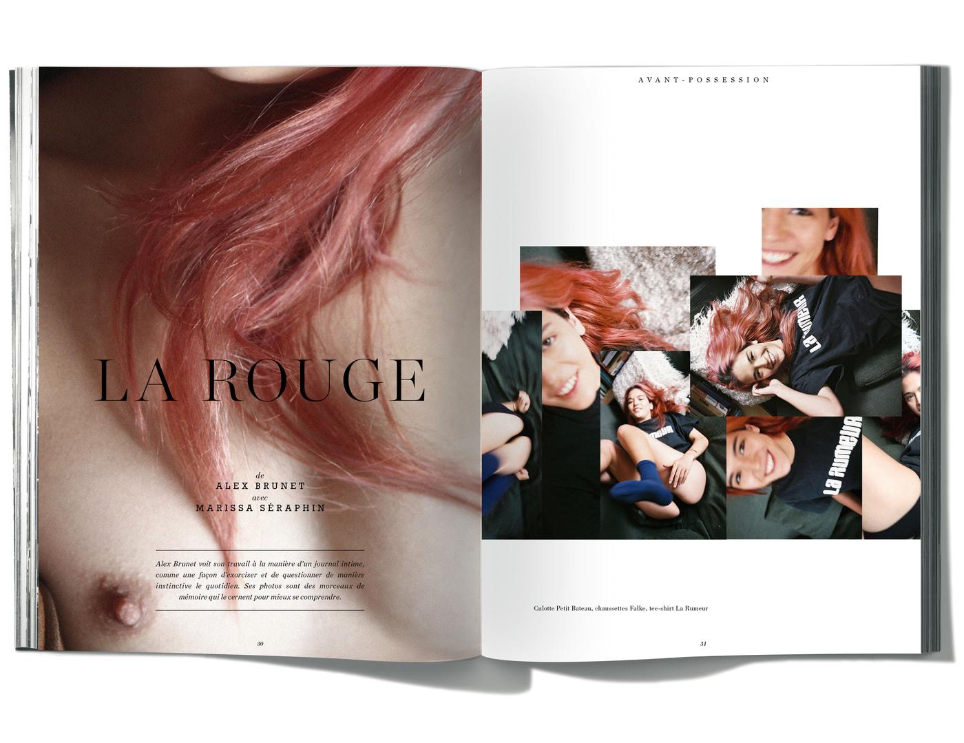 Photographies de Alex Brunet, avec Marisssa Séraphin,La Rouge