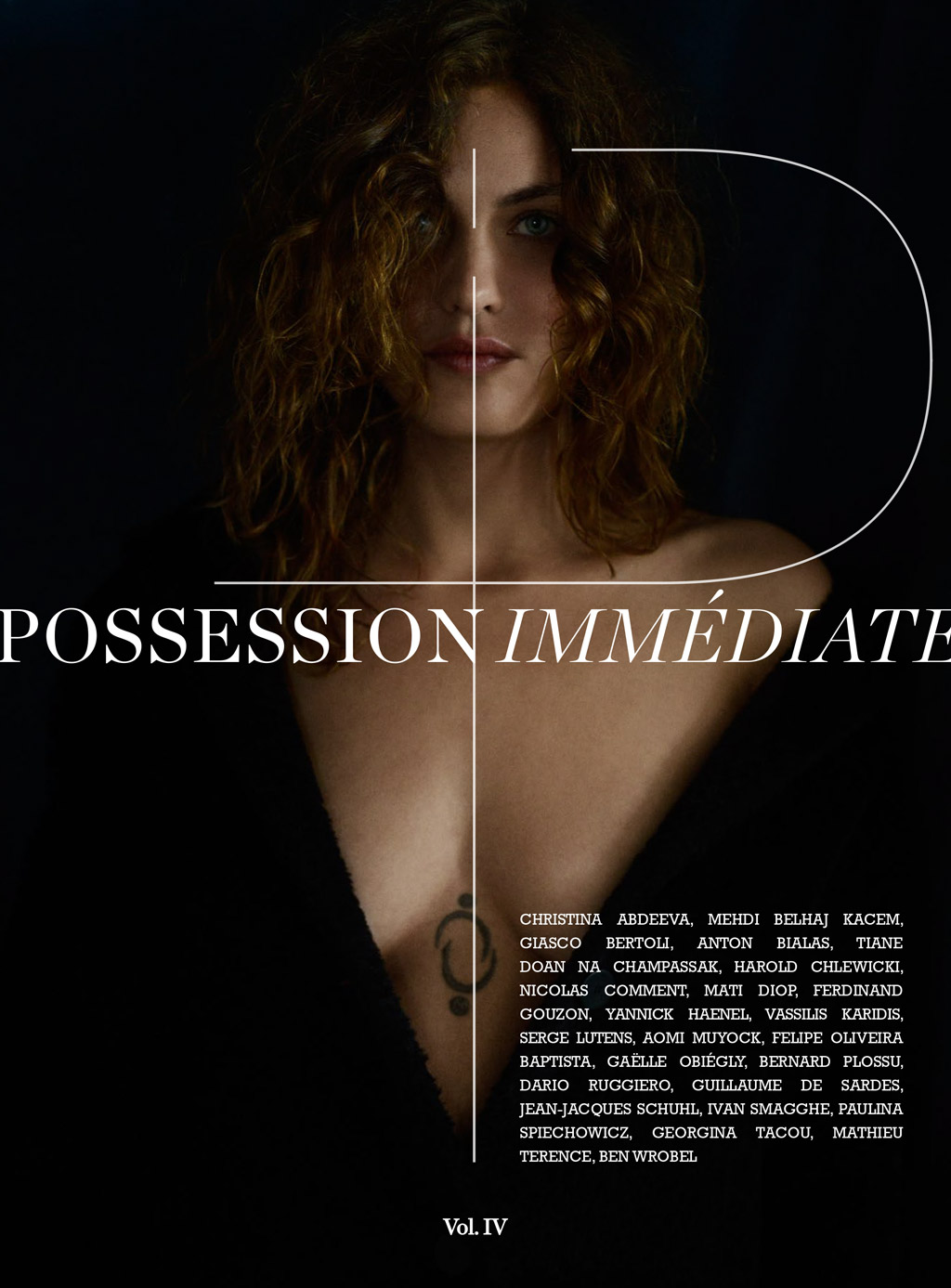 Possession Immédiate Volume 4, couverture , Aomi Muyock photographiée par Giasco Bertoli
