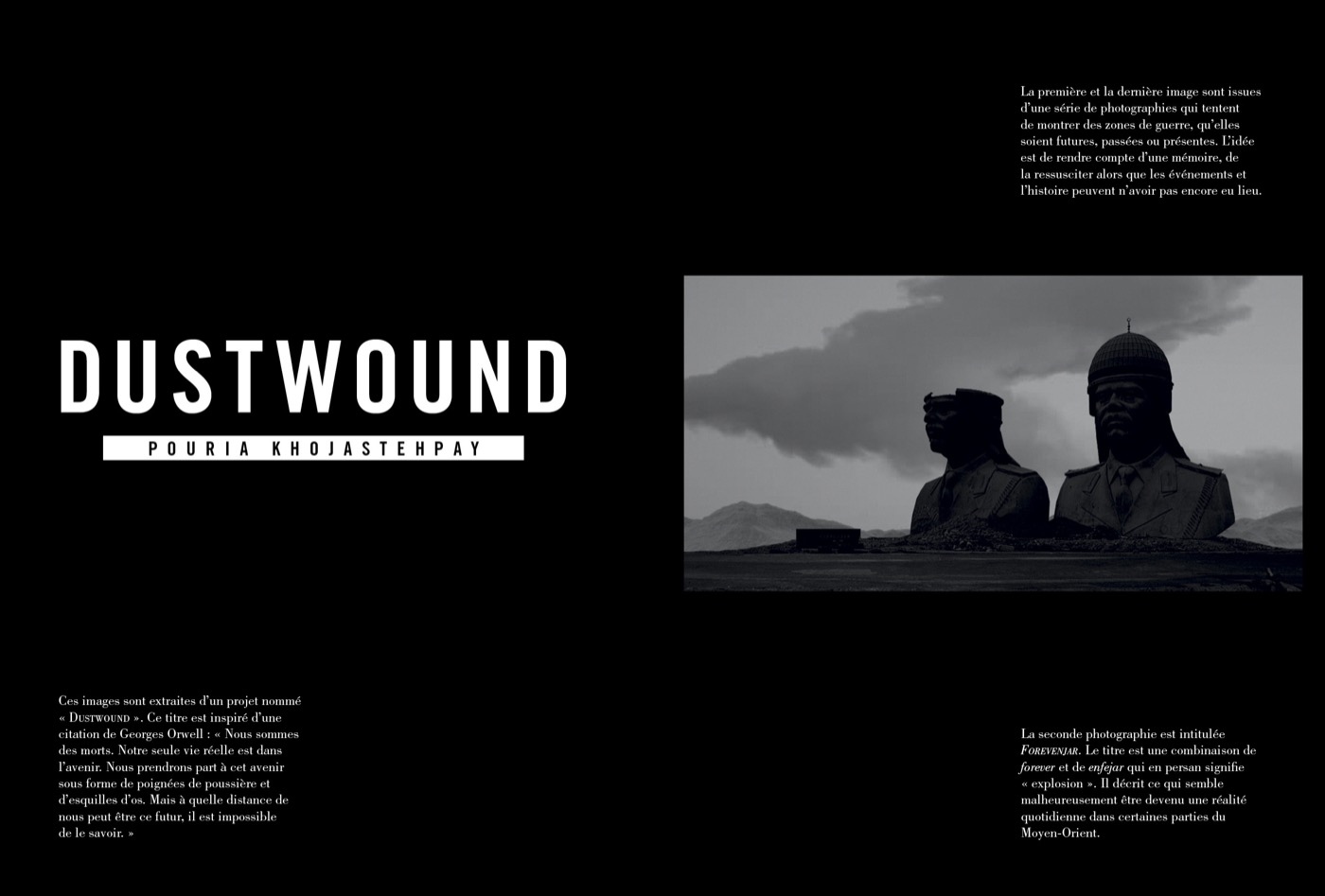 Photographies de Pouria Khojastehpay, Dustwound