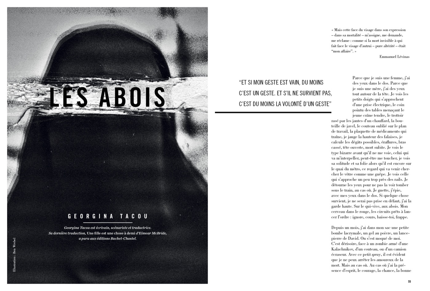 Texte de Georgina Tacou; Les Abois
