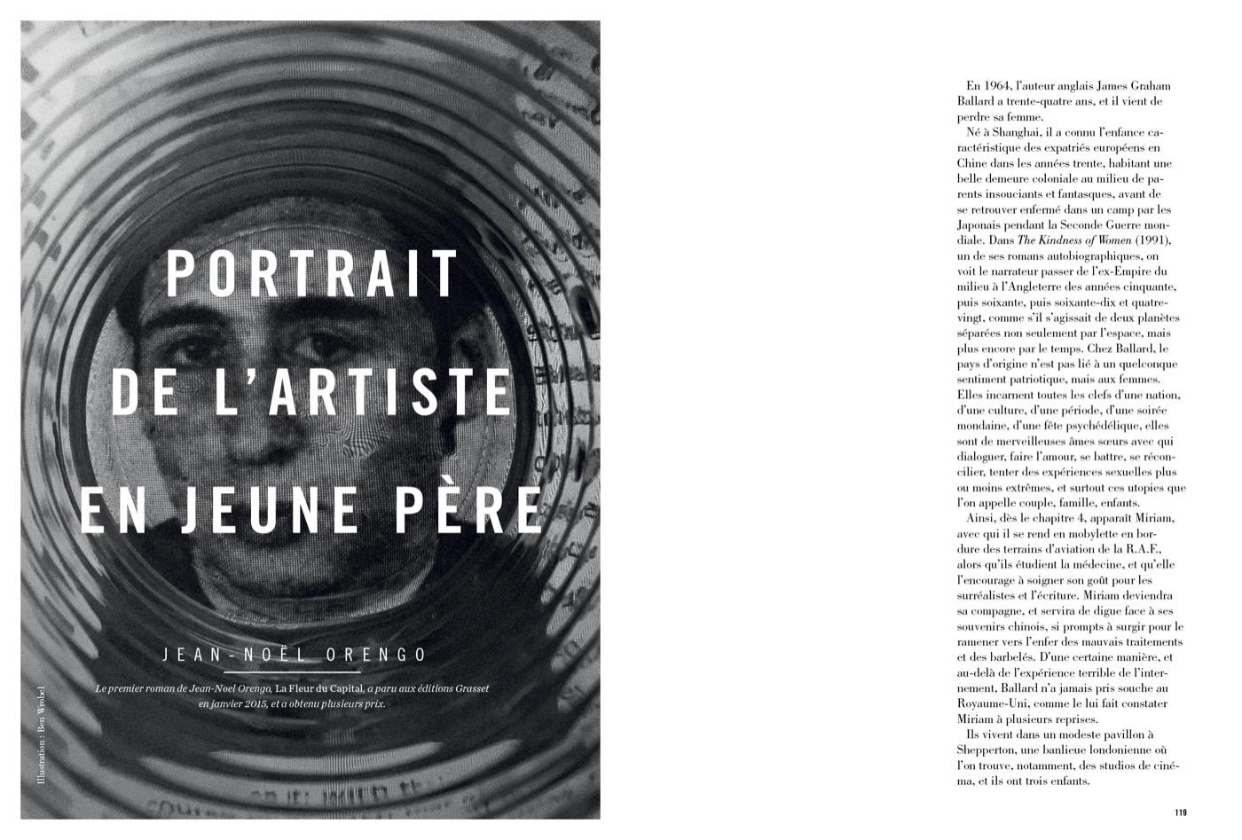 Texte de Jean-Noël Orengo, Portrait de l'artiste en jeune père