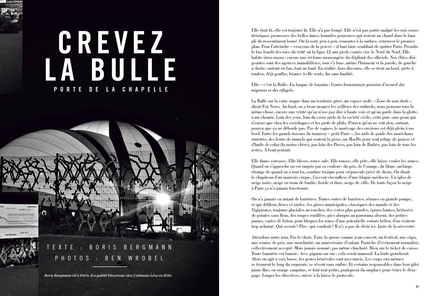 Texte de Boris Bergmann et photographies de Ben Wrobel, Crevez la bulle