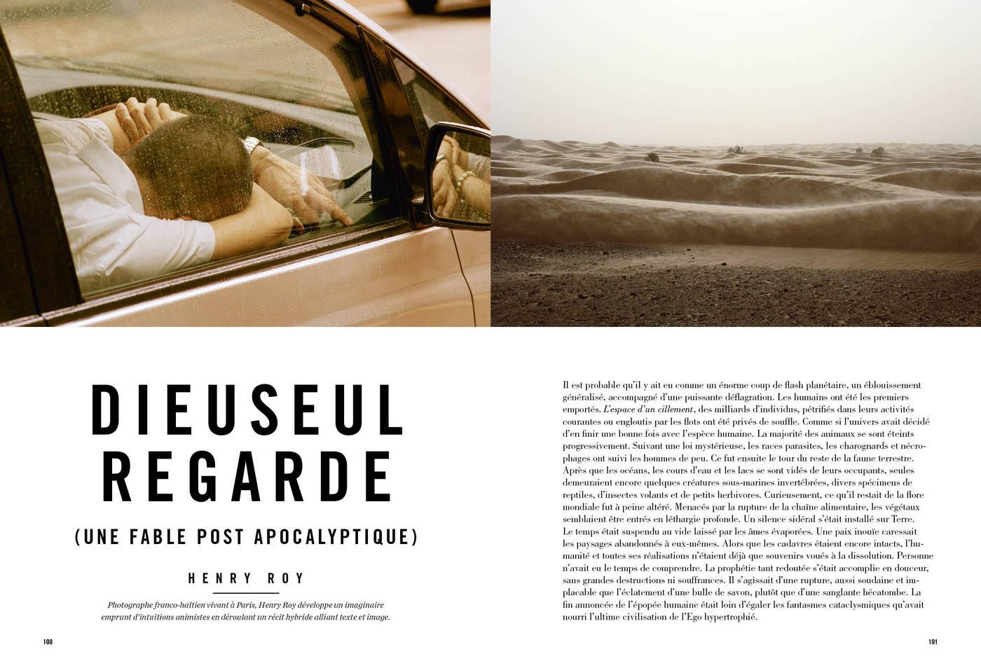 Texte et photographies d'Henry Roy, Dieuseul regarde