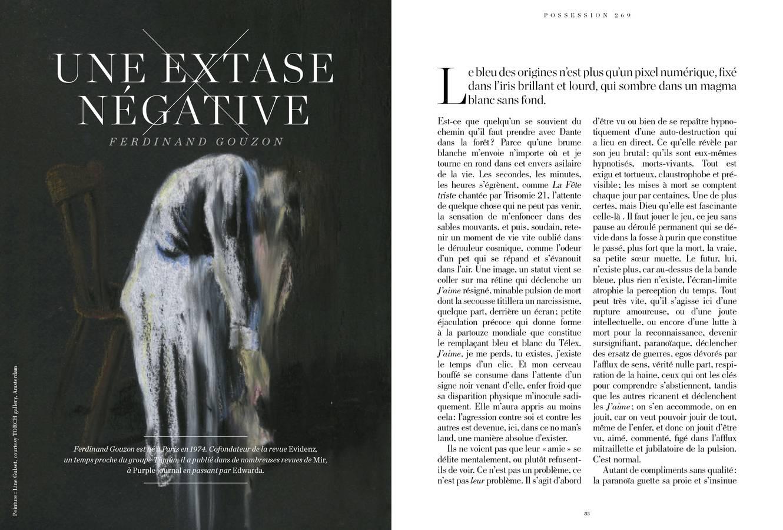 Texte de Ferdinand Gouzon, Une extase négative