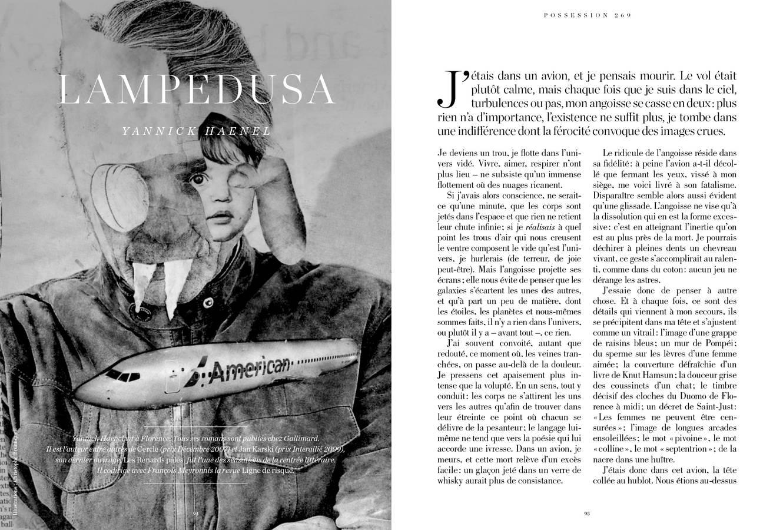 Texte de Yannick Haenel, Lampedusa