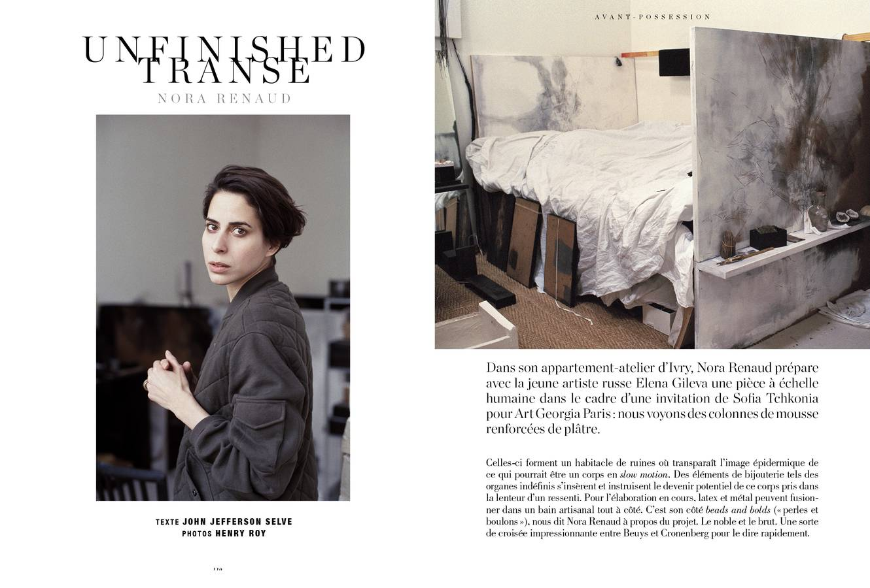 Portrait de Nora Renaud, Unfinished transe, photographie d'Henry Roy