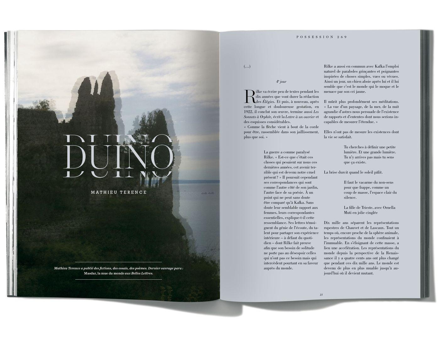 Texte de Mathieu Terence, Duino