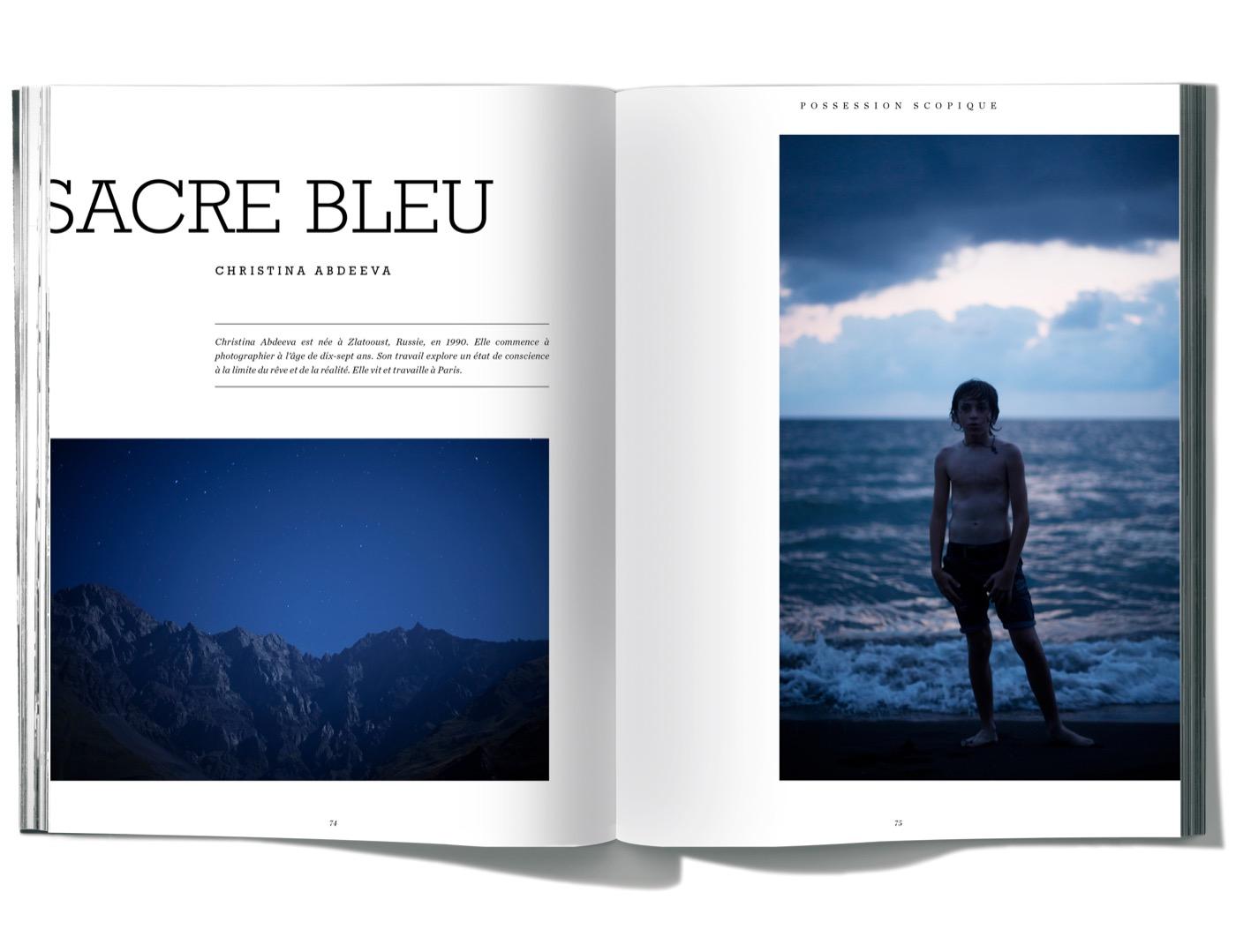 Photographies de Christina Abdeeva, Sacre Bleu