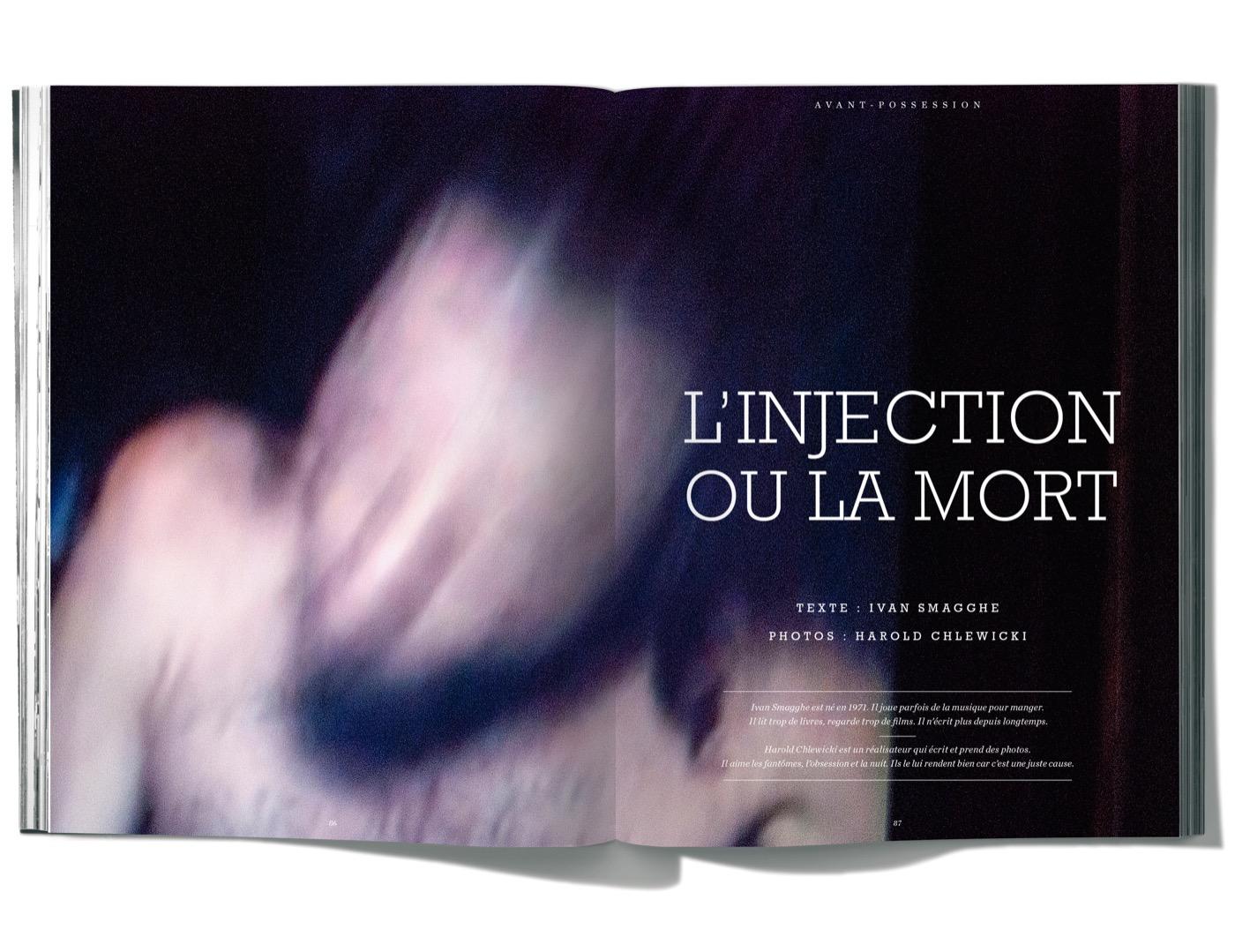 Texte de Ivan Smagghe Photographies de Harold Chlewicki, L'Injection ou la mort