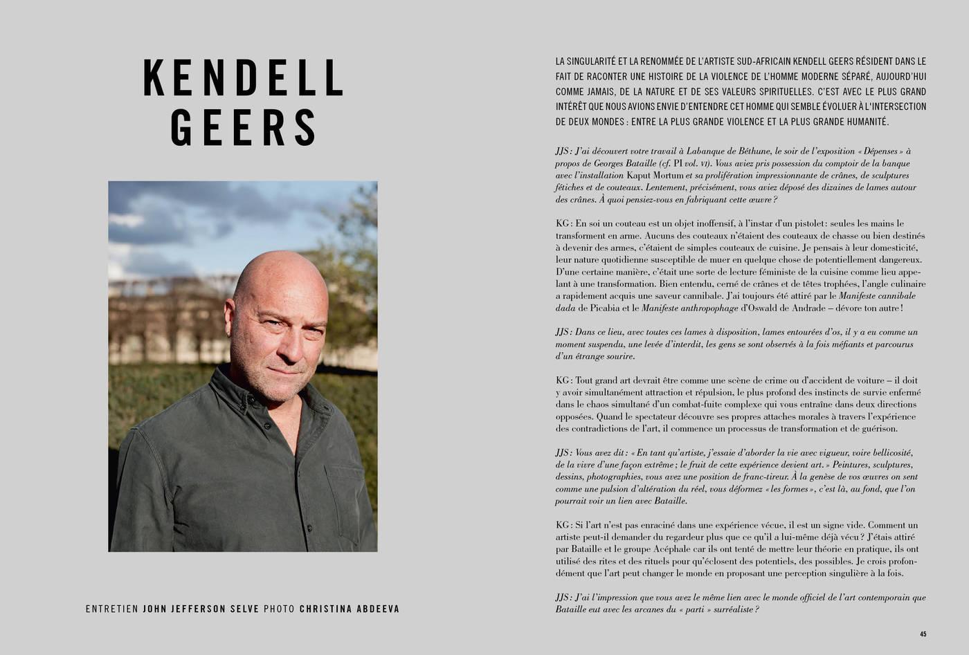 Entretien avec Kendell Geers, photographie de Christina Abdeeva