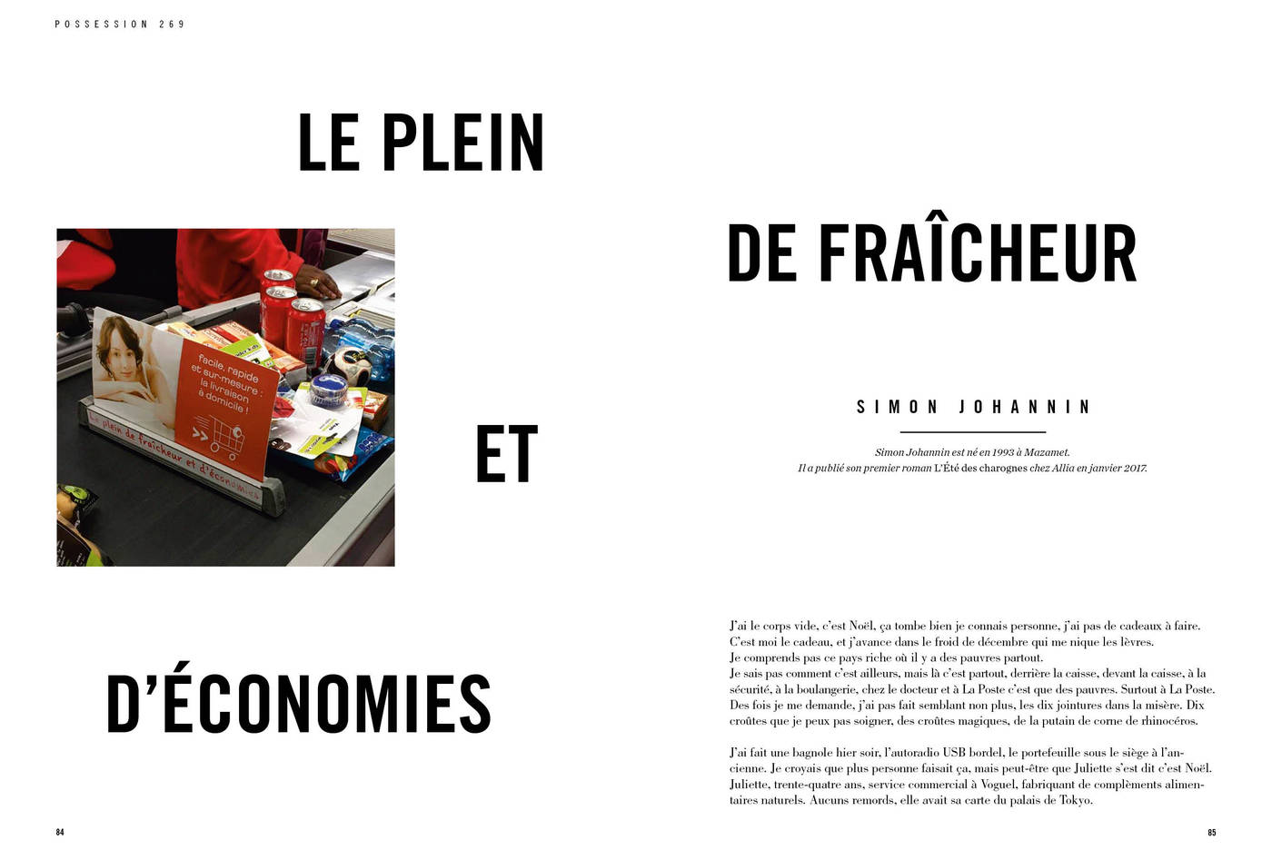 Texte de Simon Johannin, Le plein de fraicheur et d'économie