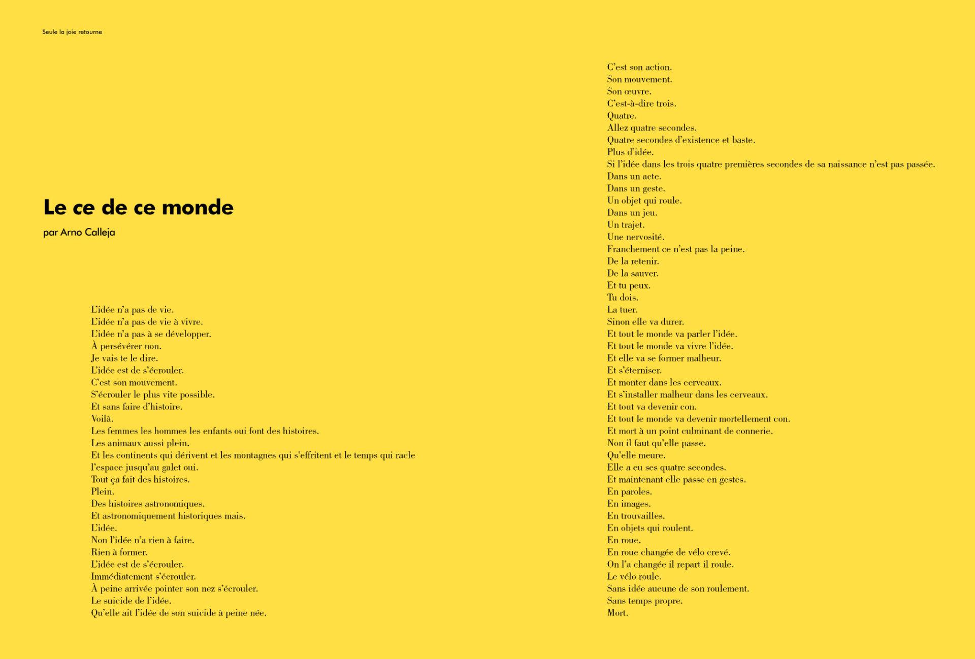 Le Ce de ce monde par Arno Calleja (extrait)